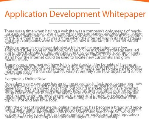 Application Development Whitepaper