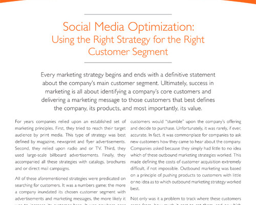 Social Media Optimization Whitepaper