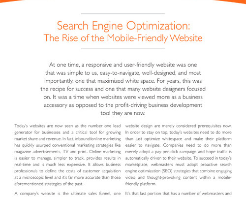 Search Engine Optimization Whitepaper